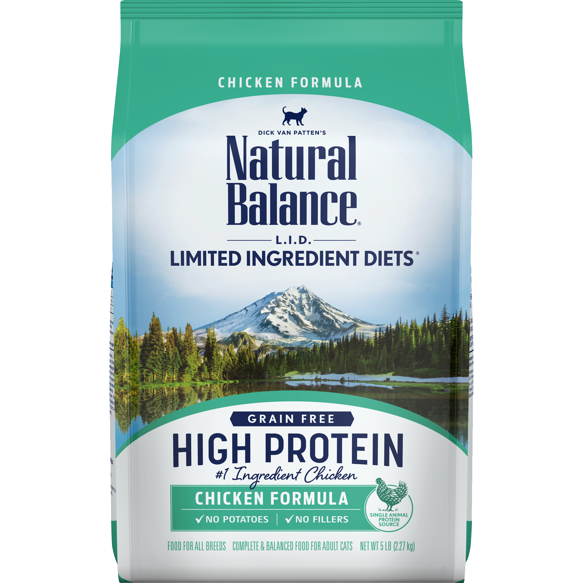 Natural Balance L.I.D. High Protein Chicken Formula Cat Dry Food, 5-lb