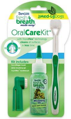 TropiClean Fresh Breath Oral Care Toothbrush Kit, Medium/Large