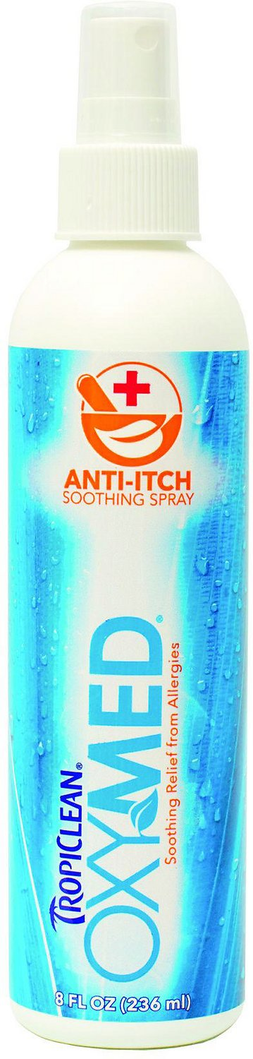 TropiClean OXY-MED Anti-Itch Spray, 8-oz bottle Image