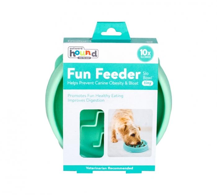 Outward Hound Fun Feeder Interactive Dog Bowl, Tiny