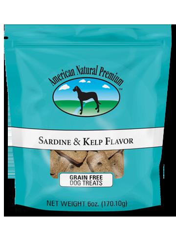 American Natural Premium Grain Free Sardine & Kelp Dog Treats, 6-oz