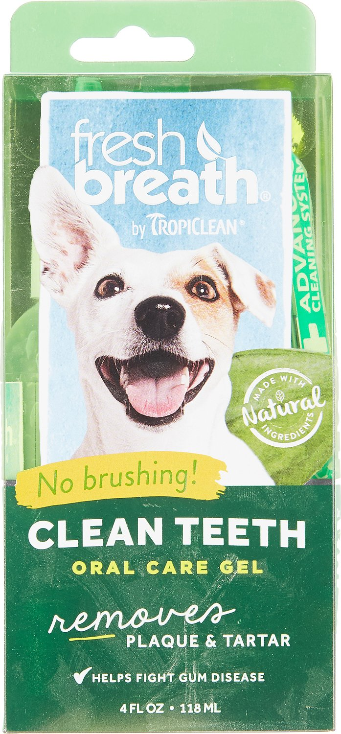 TropiClean Fresh Breath Clean Teeth Gel, 4-oz Image