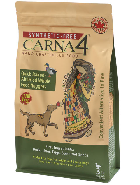 Carna4 Airdried Grain-Free Quick Baked Duck Dog Food Size: 3-lb