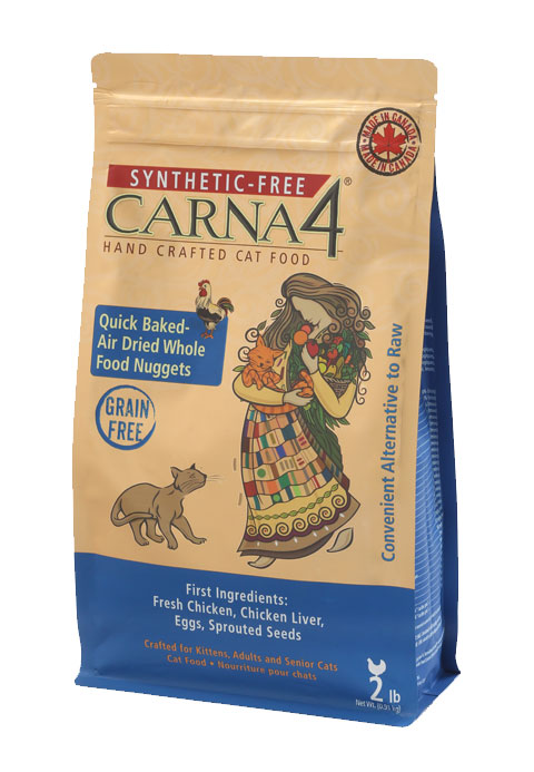 Carna4 Airdried Grain-Free Quick Baked Chicken Cat Food Size: 4-lb