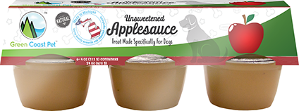 Green Coast Unsweetened Applesauce Treat for Dogs