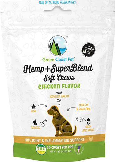 Green Coast Pet SuperBlend Soft Chews for Dogs, Chicken