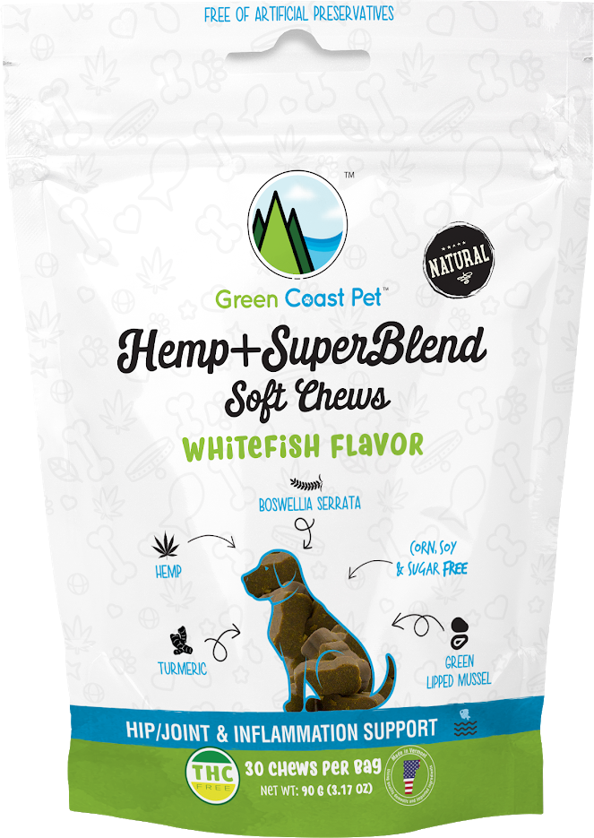 Green Coast Pet SuperBlend Soft Chews for Dogs, Whitefish