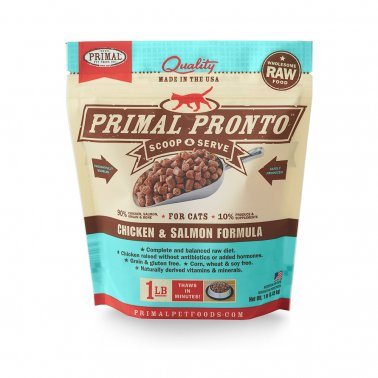 Primal Pronto Raw Chicken & Salmon Frozen Cat Food