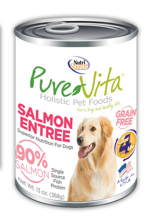 PureVita Grain-Free Salmon Entrée Wet Dog Food, 13-oz