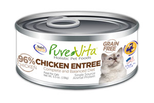PureVita Grain-Free Chicken Entrée Wet Cat Food, 5.5-oz