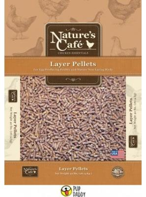 Nature's Cafe Chicken Lay Pellet with Omega 3 & 6 Chicken Feed, 20-lb