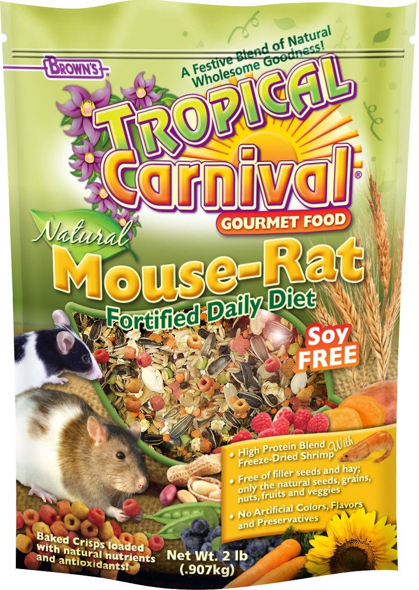 Brown's Tropical Carnival Natural Mouse & Rat Food, 2-lb bag
