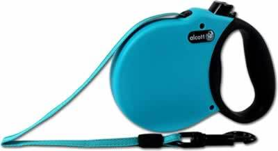 Alcott Adventure Retractable Dog Leash 16' Blue