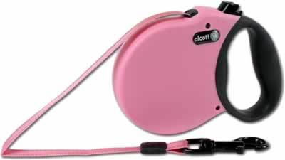 Alcott Adventure Retractable Dog Leash 16' Pink Size: Small