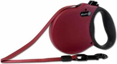 Alcott Adventure Retractable Dog Leash 16' Red