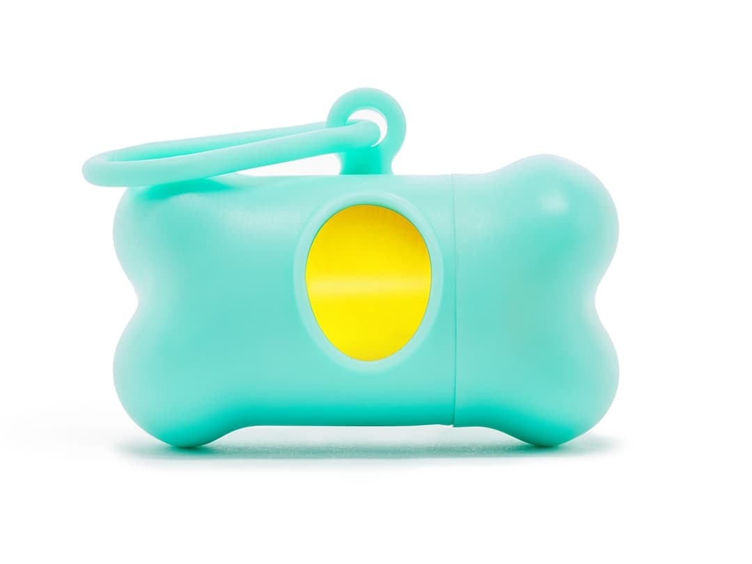 Modern Kanine Turquoise & Yellow Waste Bag Dispenser
