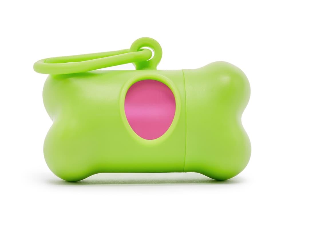 Modern Kanine Green & Pink Waste Bag Dispenser