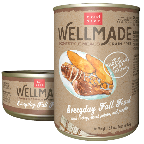 Cloudstar Wellmade Grain-Free Homestyle Everyday Fall Feast with Turkey Wet Dog Food