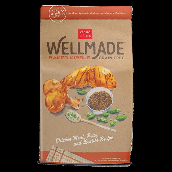 Cloudstar Wellmade Grain-Free Baked Kibble Chicken Meal, Peas & Lentils Dry Dog Food