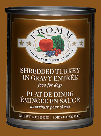 Fromm Shredded Turkey in Gravy Entrée Wet Dog Food, 12-oz, case of 12