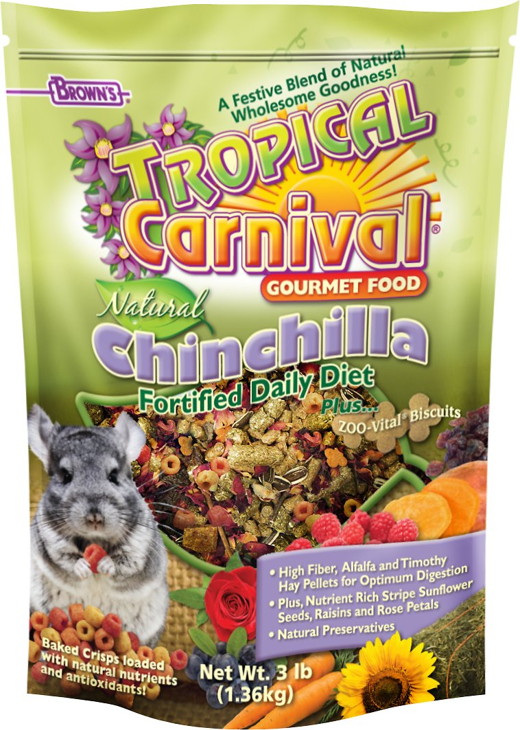 Brown's Tropical Carnival Natural Biscuits Chinchilla Food, 3-lb bag