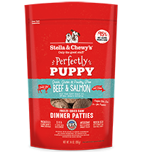 Stella & Chewy's Perfectly Puppy Beef & Salmon Dinner Patties Freeze-Dried Raw Dog Food, 14-oz