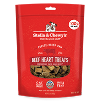 Stella & Chewy's Beef Hearts Dog Treats, 3-oz