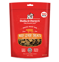 Stella & Chewy's Beef Liver Dog Treats, 3-oz