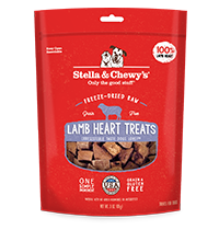 Stella & Chewy's Lamb Hearts Dog Treats, 3-oz