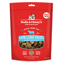 Stella & Chewy's Lamb Liver Dog Treats, 3-oz