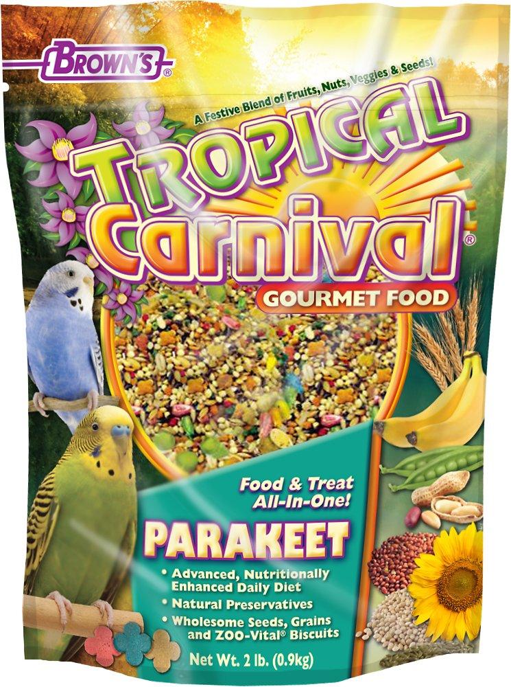 Brown's Tropical Carnival Parakeet Bird Food, 2-lb bag