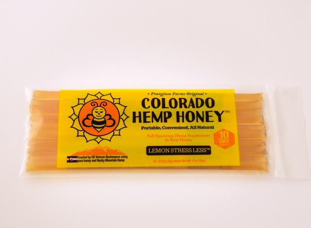 Colorado Honey Lemon Stress Less Full Spectrum Extract Sticks, 10-count (150-mg)