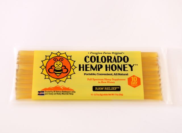 Colorado Honey Raw Relief Full Spectrum Extract Sticks, 10 Count (150-mg)