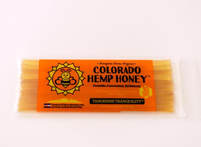 Colorado Honey Tangerine Tranquility Full Spectrum Extract Sticks, 10-count (150-mg)