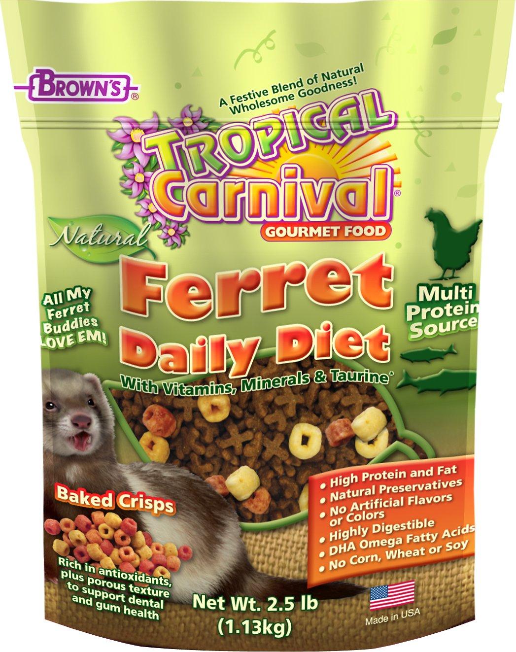 Brown's Tropical Carnival Natural Daily Diet Ferret Food, 2.5-lb bag