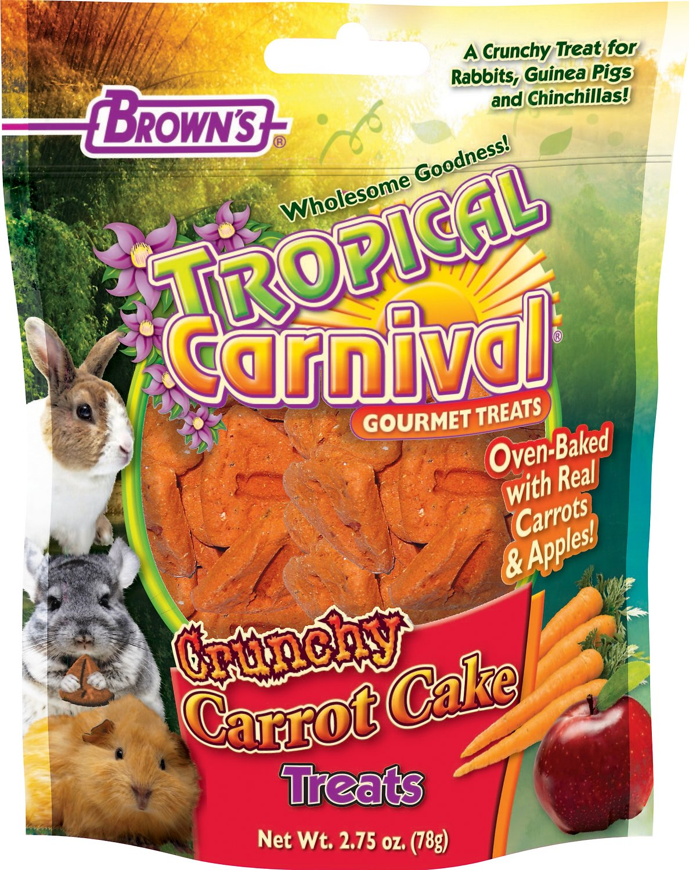 Brown's Tropical Carnival Crunchy Carrot Cake Small Animal Treats, 2.75-oz bag