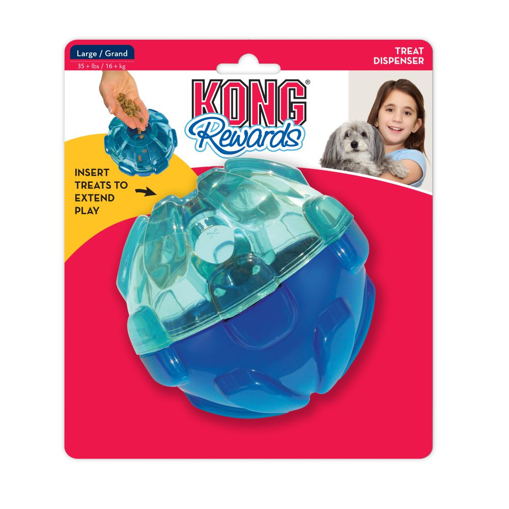 KONG Rewards Ball Dog Toy, Large