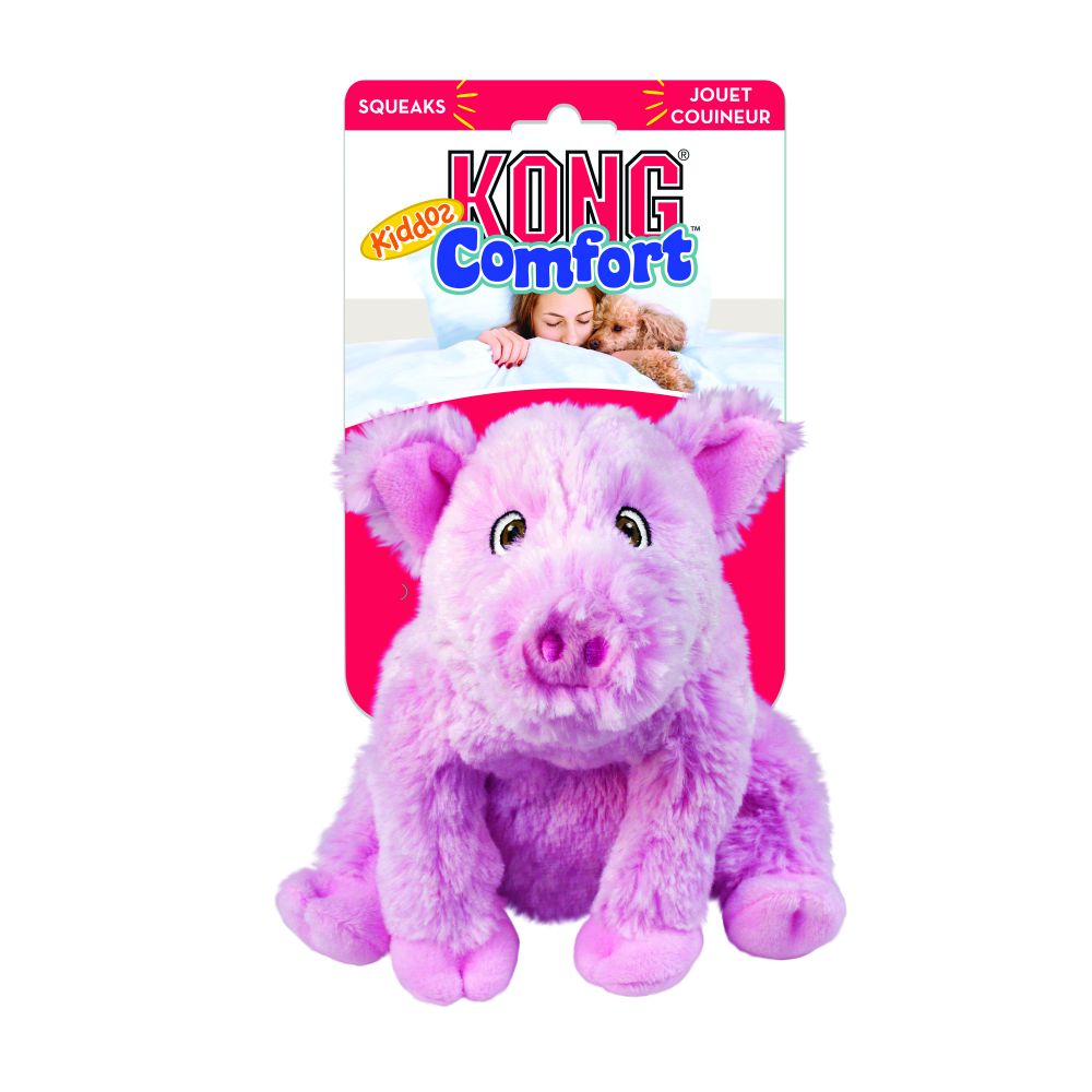 KONG Comfort Kiddos Pig Plush Dog Toy, Large