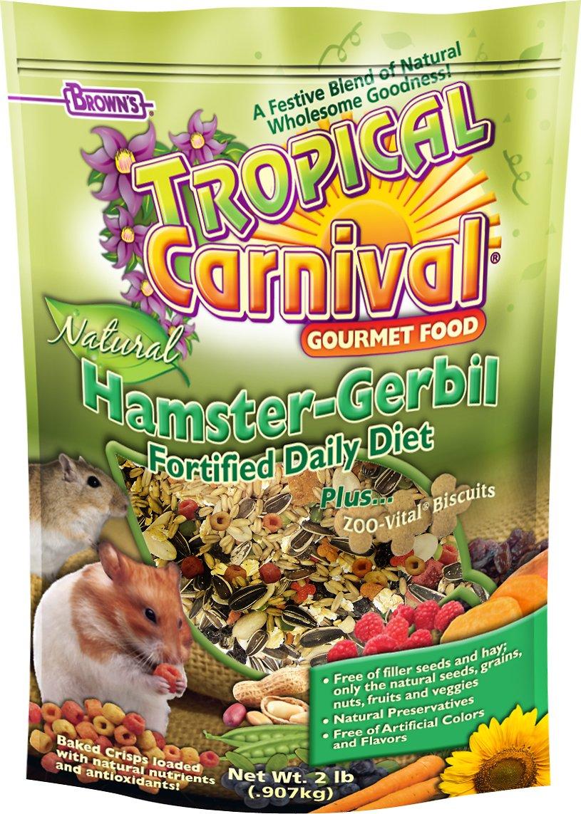 Brown's Tropical Carnival Biscuits Hamster & Gerbil Food, 2-lb bag
