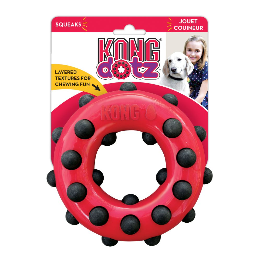 KONG Dotz Circle Dog Chew Toy, Large