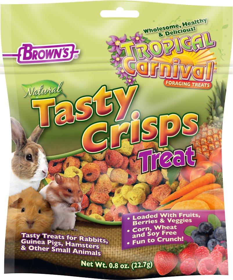 Brown's Tropical Carnival Natural Baked Crisps Small Animal Treats, 0.8-oz bag