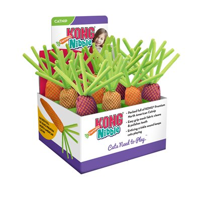 KONG Nibble Carrots Cat Toy, Case of 12