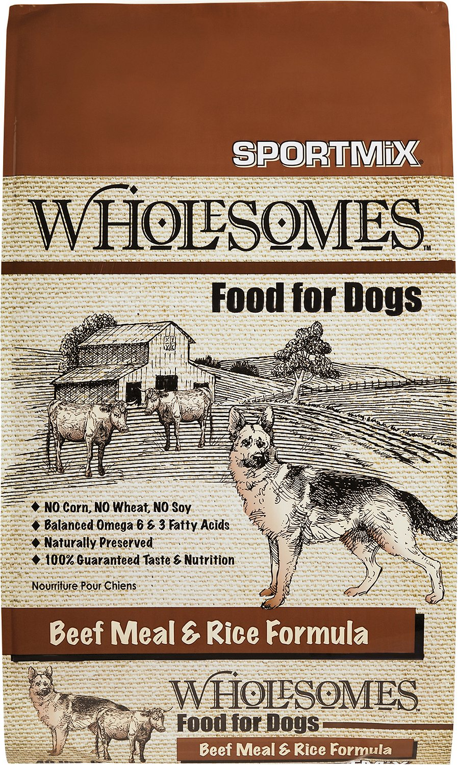 SPORTMiX Wholesomes Beef Meal & Rice Formula Dry Dog Food