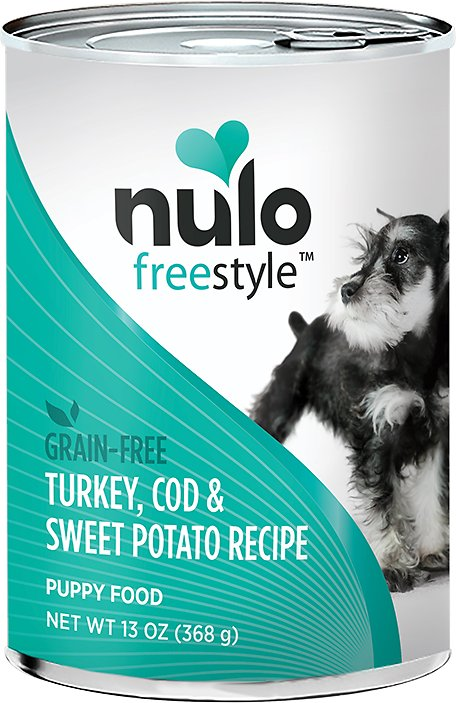 Nulo Dog Freestyle Pate Turkey, Cod & Sweet Potato Recipe Grain-Free Puppy Canned Dog Food, 13-oz