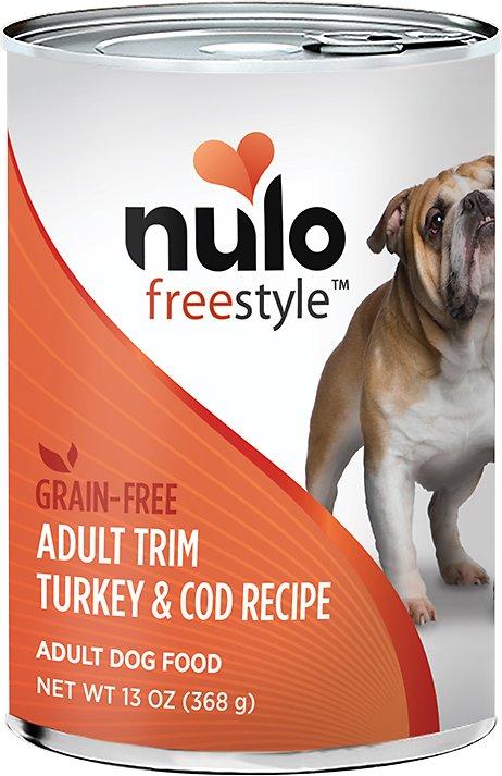 Nulo Dog Freestyle Pate Turkey & Cod Recipe Grain-Free Adult Trim Canned Dog Food, 13-oz