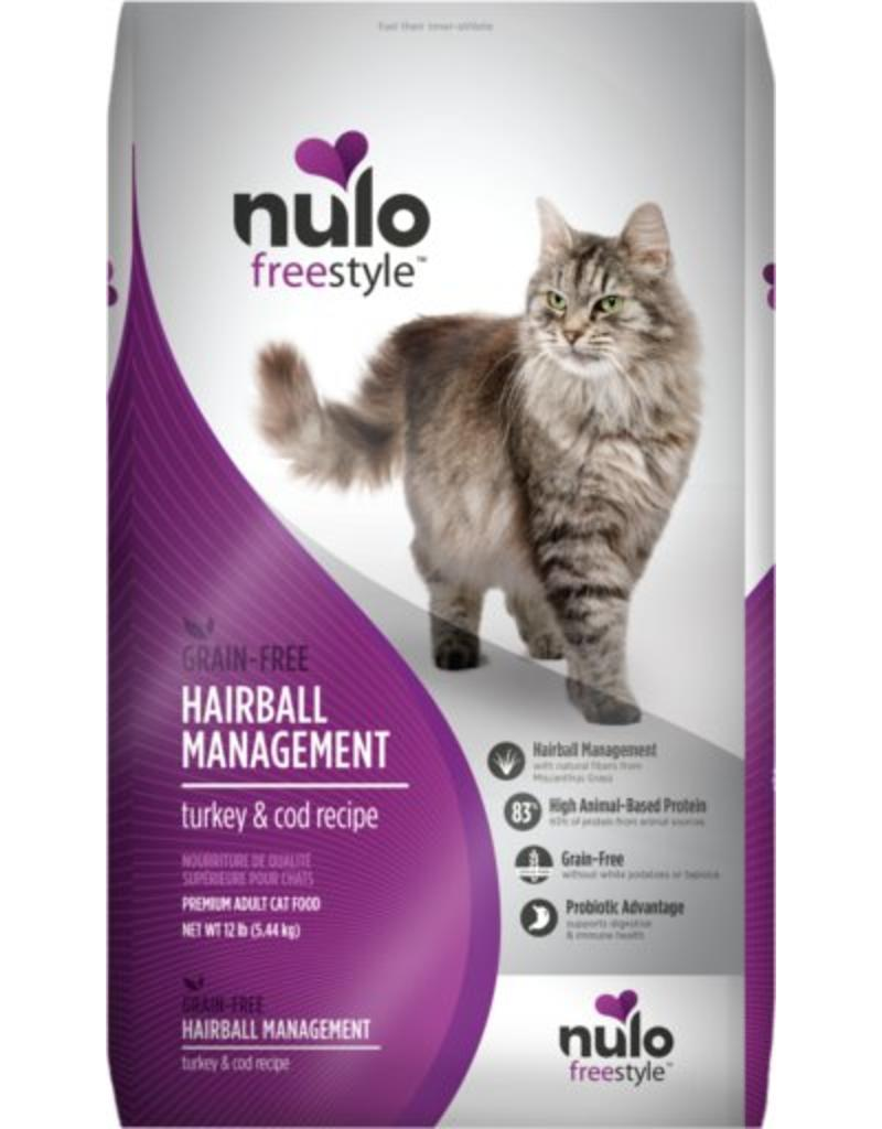 Nulo Cat Freestyle Hairball Management Turkey & Cod Recipe Grain-Free Dry Cat Food, 12-lb