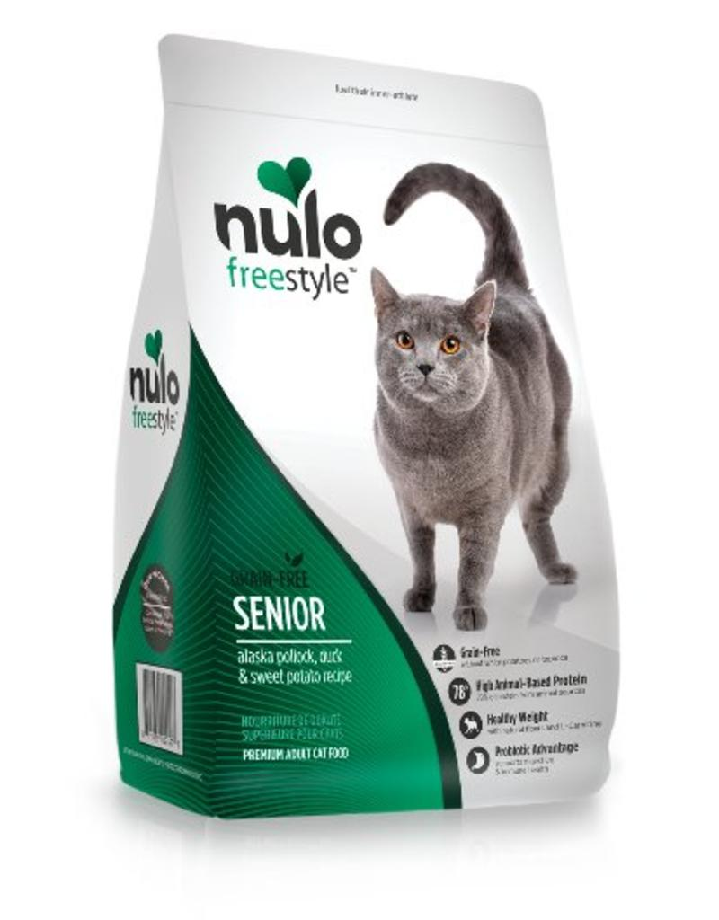 Nulo Cat Freestyle Senior Pollock, Duck, & Sweet Potato Recipe Grain-Free Dry Cat Food, 12-lb