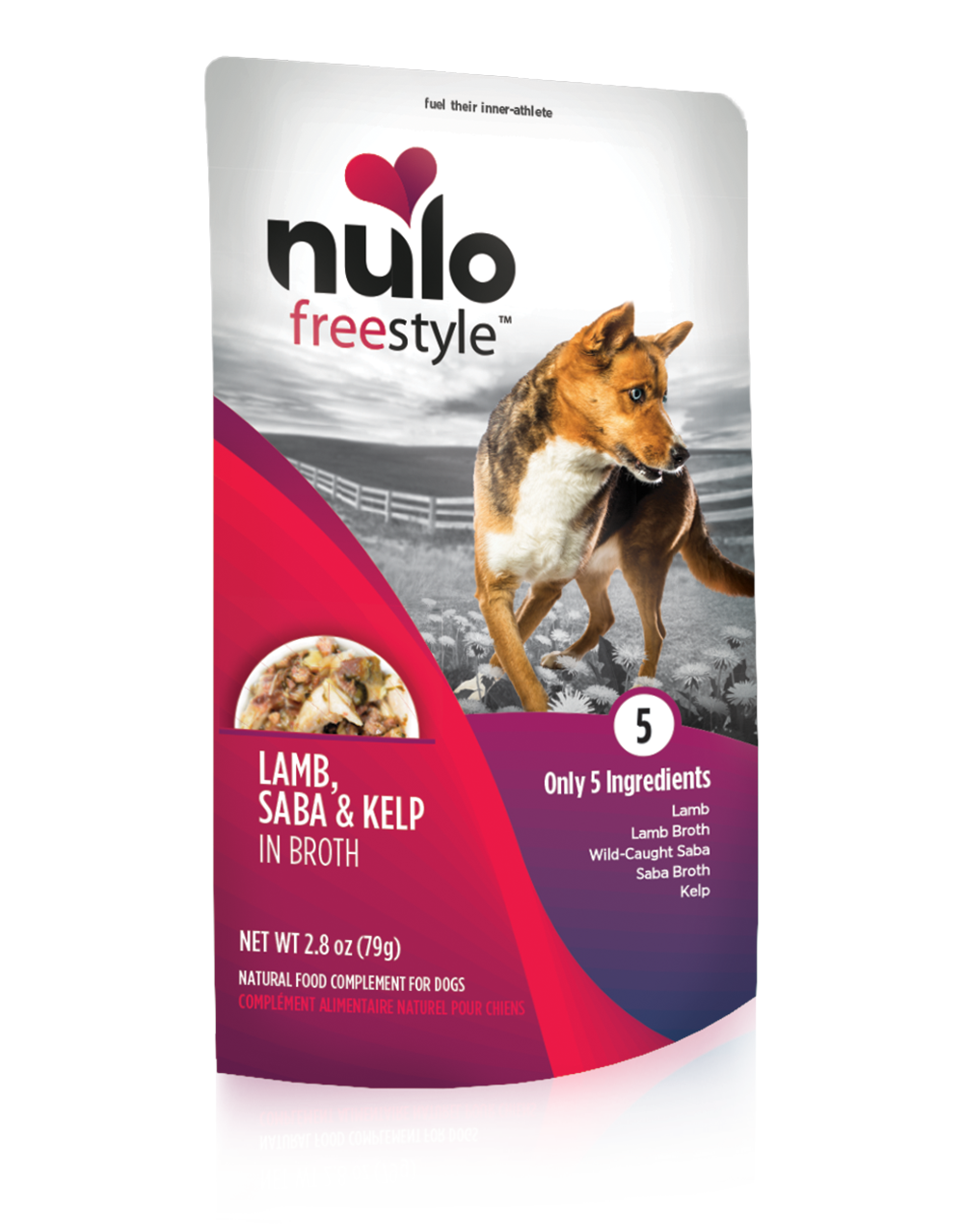 Nulo Dog Freestyle Pouch Lamb, Saba & Kelp in Broth Grain-Free Dog Food Topper, 2.8-oz