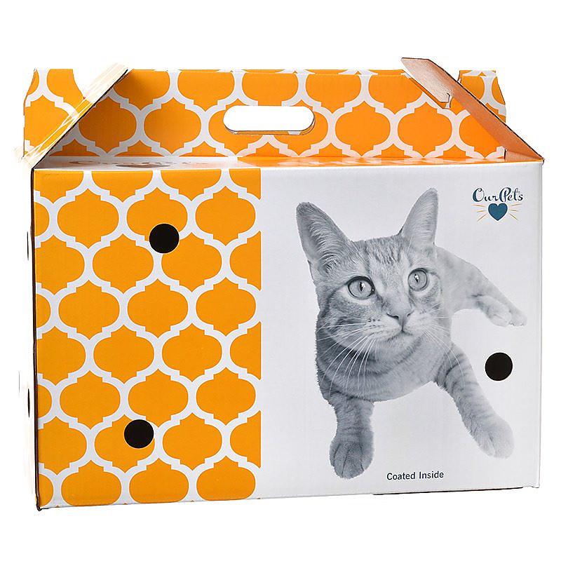 OurPets Cosmic Catnip Pet Shuttle Cardboard Carrier, Small