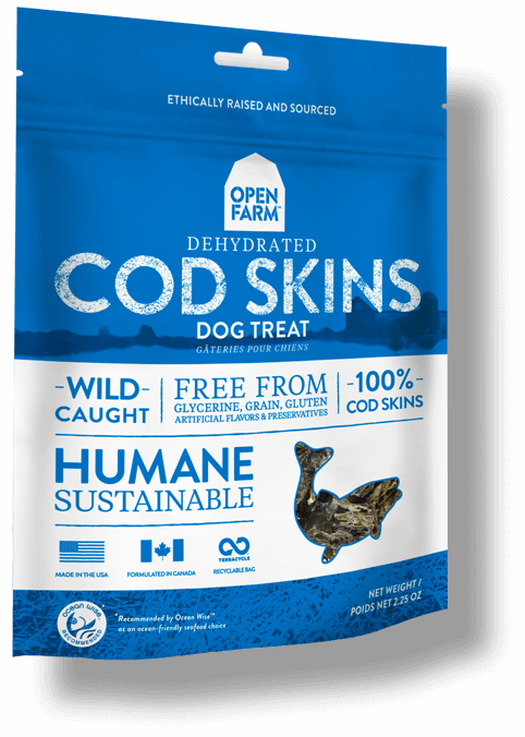 Open Farm Dehydrated Cod Skins Dog Treat